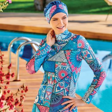 Picture for category LYCRA BURKINI SWIMSUIT