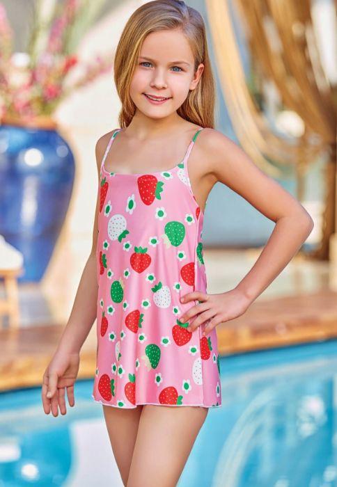 Adasea 5042 Kız Çocuk Elbise Mayo