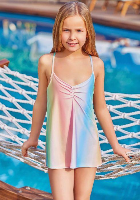 Adasea 5045 Kız Çocuk Elbise Mayo
