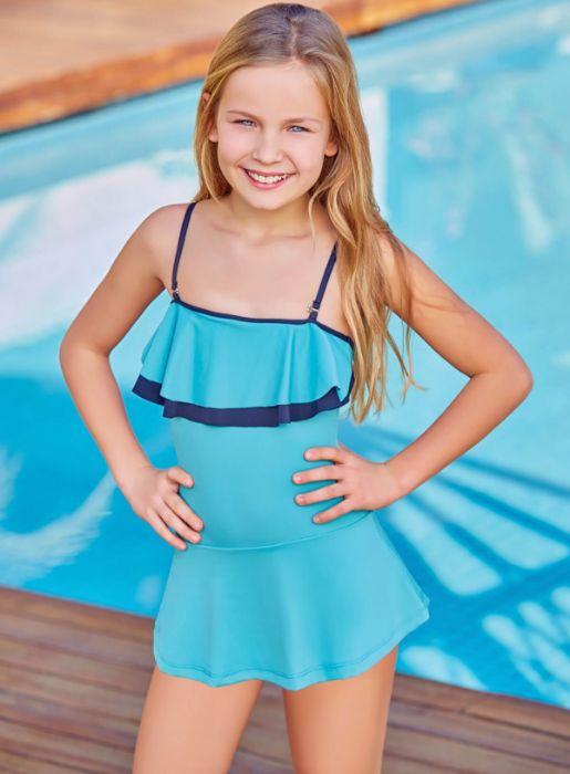 Adasea 5048 Kız Çocuk Elbise Mayo