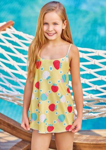 Adasea 5042 Kız Çocuk Elbise Mayo - Sarı