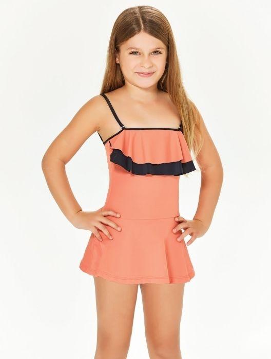 Adasea 5048 Kız Çocuk Elbise Mayo - Yavru Ağzı