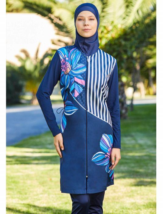 Adasea Full Cover Burkini Swimsuit 2179-3