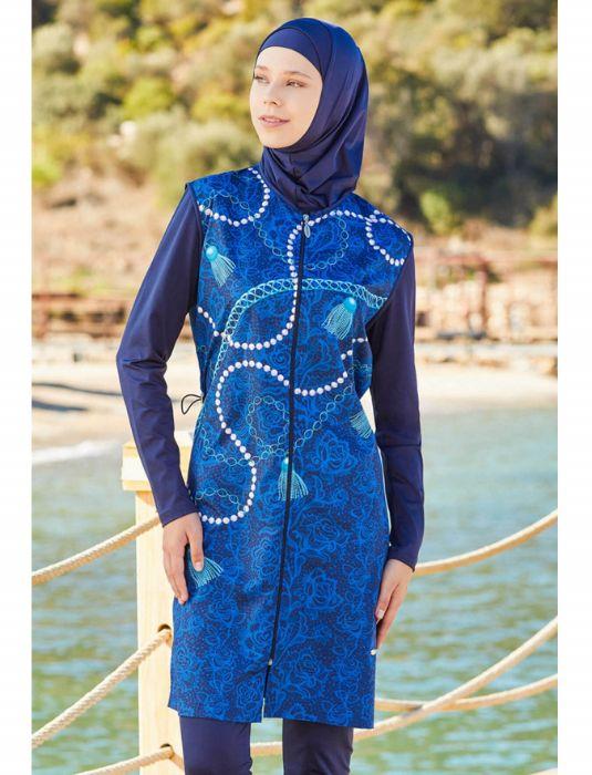Adasea Full Cover Burkini Swimsuit 2181